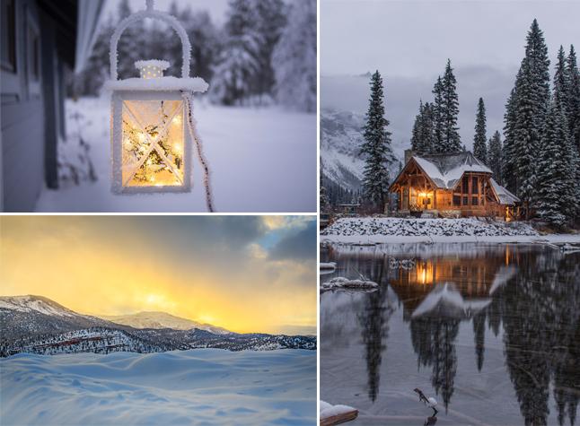 exemples de photos avec la lumière d'hiver