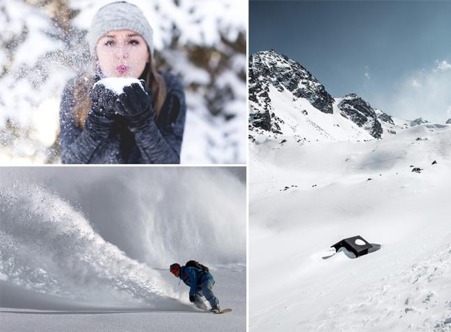 Photographies jouant avec la neige